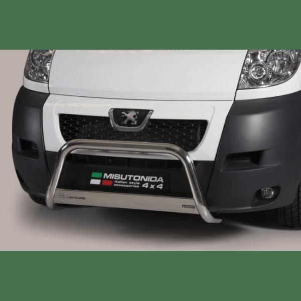 Misutonida Bull Bar Ø63mm inox srebrni za Peugeot Boxer 2006-2013 s EU certifikatom