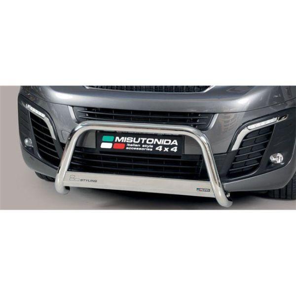 Misutonida Bull Bar Ø63 inox srebrni Peugeot Expert Traveller MWB/LWB 2016 s EU certifikatom