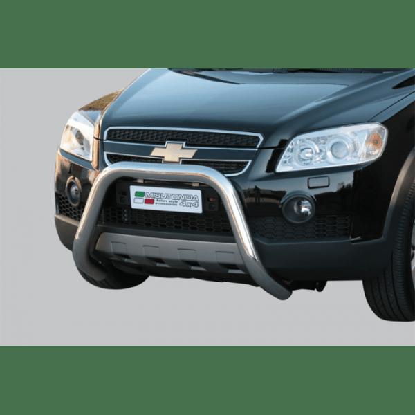 Misutonida Bull Bar Ø76mm inox srebrni za Chevrolet Captiva 2006+ s EU certifikatom