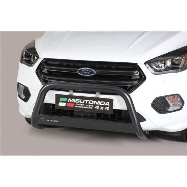 Misutonida Bull Bar Ø63mm inox crni za Ford Kuga 2017 s EU certifikatom