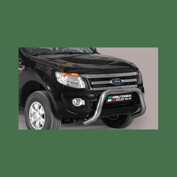 Misutonida Bull Bar Ø76mm inox srebrni za Ford Ranger 2012-2015 s EU certifikatom