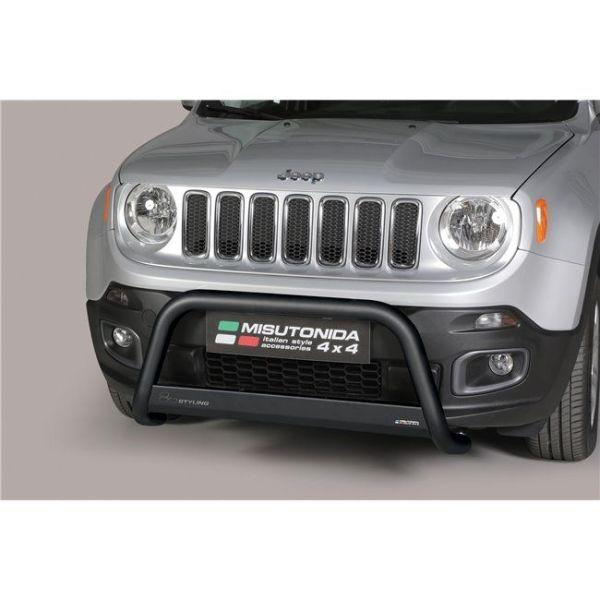 Misutonida Bull Bar Ø63mm inox crni za Jeep Renegade 2014-2017 s EU certifikatom