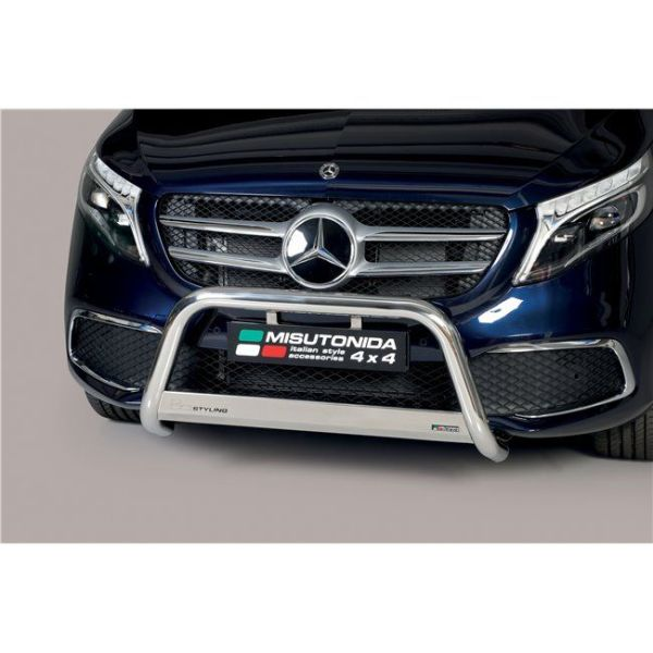 Misutonida Bull Bar Ø63mm inox srebrni za Mercedes Class V 2020 s EU certifikatom