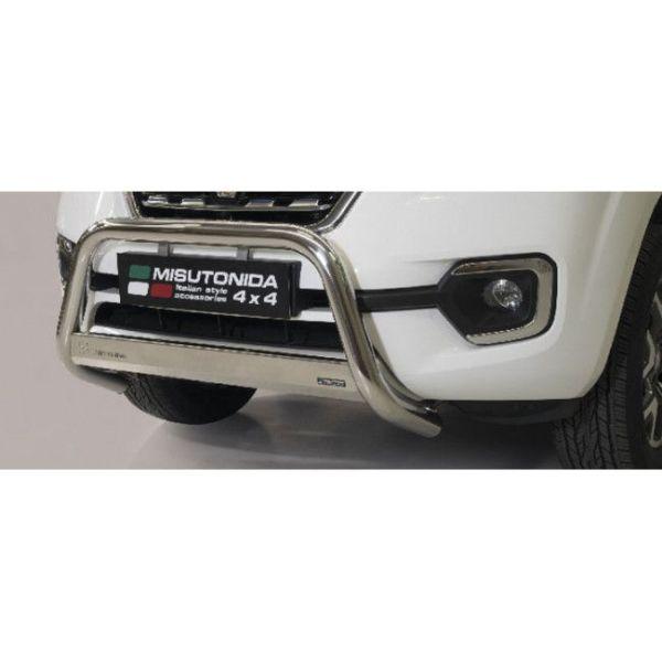 Misutonida Bull Bar Ø63mm inox srebrni za Renault Alaskan 2018 s EU certifikatom
