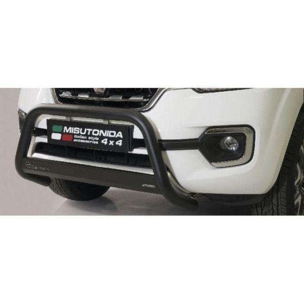 Misutonida Bull Bar Ø63mm inox crni za Renault Alaskan 2018 s EU certifikatom
