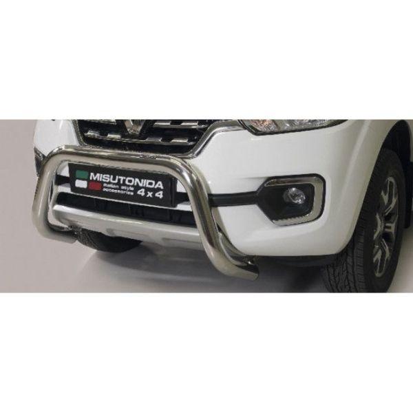 Misutonida Bull Bar Ø76mm inox srebrni za Renault Alaskan 2018 s EU certifikatom