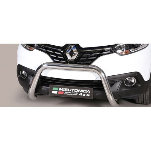 Misutonida Bull Bar Ø76mm inox srebrni za Renault Kadjar 2015-2018 s EU certifikatom