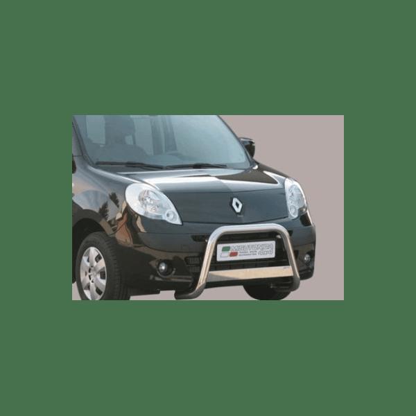 Misutonida Bull Bar Ø63mm inox srebrni za Renault Kangoo 2008-2013 s EU certifikatom