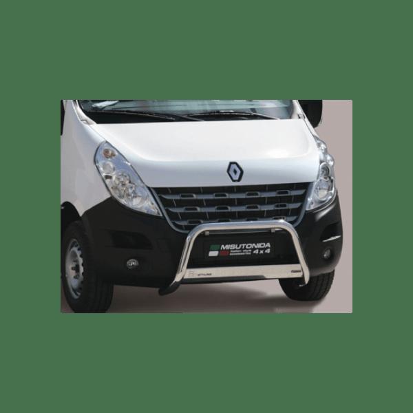 Misutonida Bull Bar Ø63mm inox srebrni za Renault Master 2010-2018 s EU certifikatom