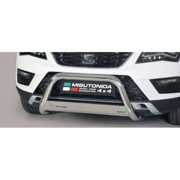 Misutonida Bull Bar Ø63mm inox srebrni za Seat Ateca 2018 s EU certifikatom