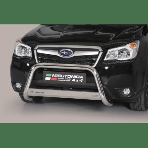 Misutonida Bull Bar Ø63mm inox srebrni za Subaru Forester 2013-2015 s EU certifikatom