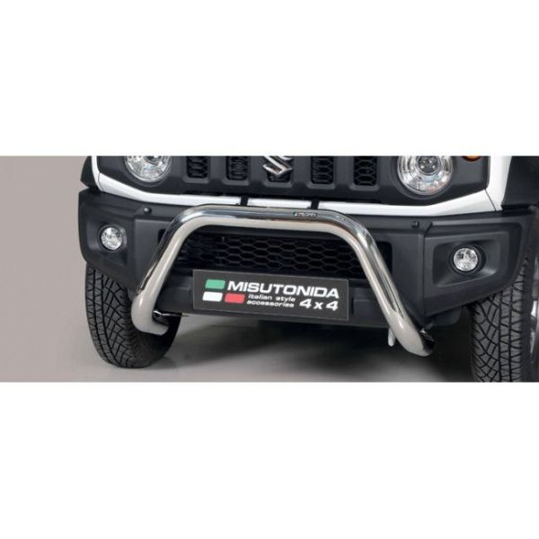 Misutonida Bull Bar Ø76mm inox srebrni za Suzuki Jimny 2018 s EU certifikatom