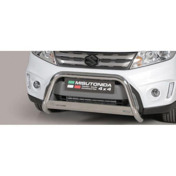 Misutonida Bull Bar Ø63mm inox srebrni za Suzuki Vitara 2015-2018 s EU certifikatom