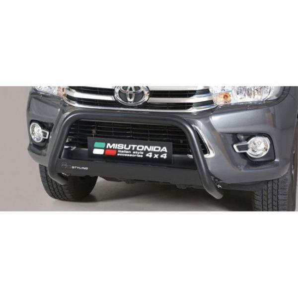 Misutonida Bull Bar Ø63mm inox crni za Toyota Hi Lux Double Cab, Extra Cab 2016-2018 s EU certifikatom