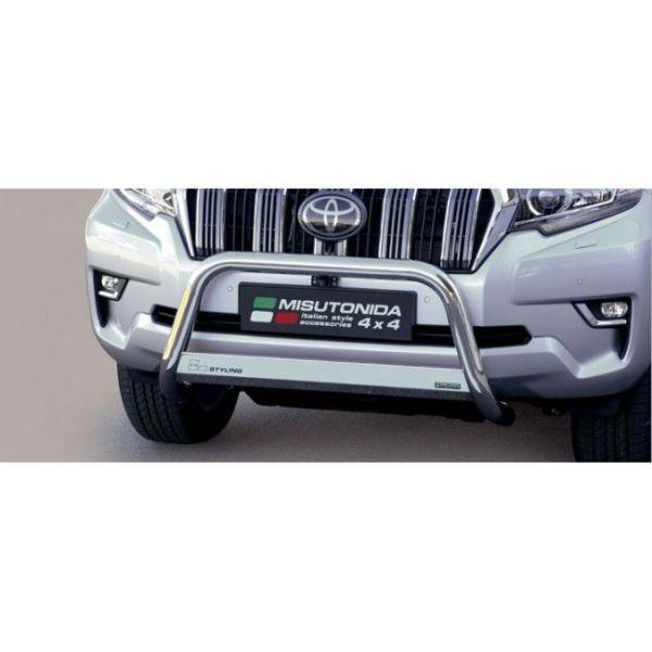 Misutonida Bull Bar Ø63mm inox srebrni za Toyota Land Cruiser 5 vrata 2018 s EU certifikatom
