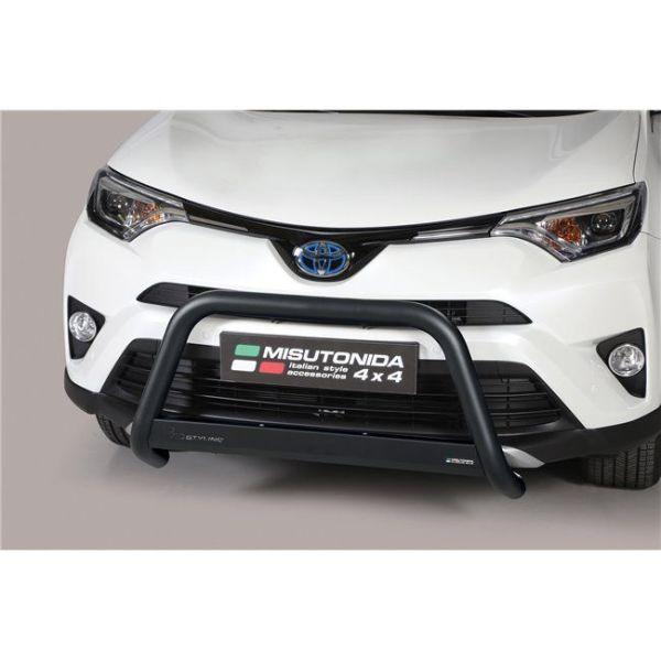Misutonida Bull Bar Ø63mm inox crni za Toyota Rav 4 Hybrid 2016-2018 s EU certifikatom