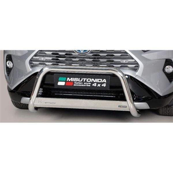 Misutonida Bull Bar Ø63mm inox srebrni za Toyota Rav 4 Hybrid 2019 s EU certifikatom