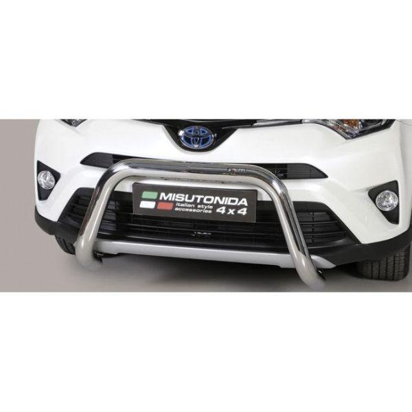 Misutonida Bull Bar Ø76mm inox srebrni za Toyota Rav 4 Hybrid 2016-2018 s EU certifikatom