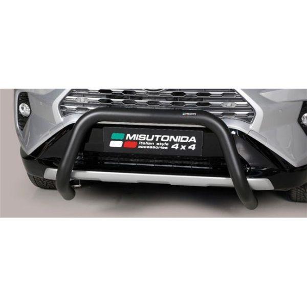 Misutonida Bull Bar Ø76mm inox crni za Toyota Rav 4 Hybrid 2019 s EU certifikatom