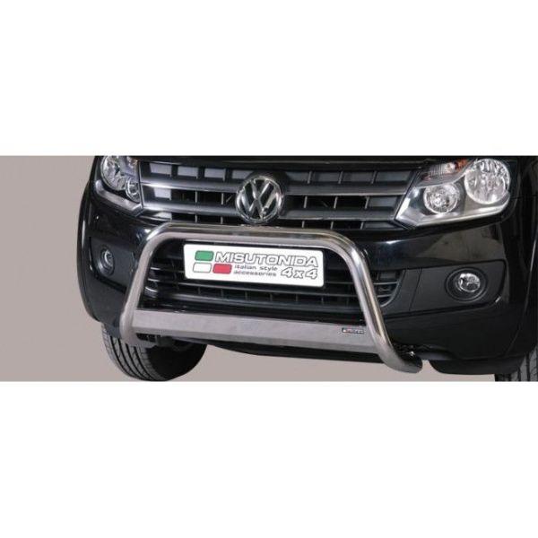 Misutonida Bull Bar Ø63mm inox srebrni za Volkswagen Amarok Trend Line 2010 s EU certifikatom