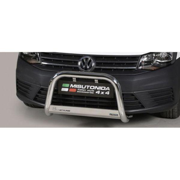 Misutonida Bull Bar Ø63mm inox srebrni za Volkswagen Caddy 2015+ s EU certifikatom