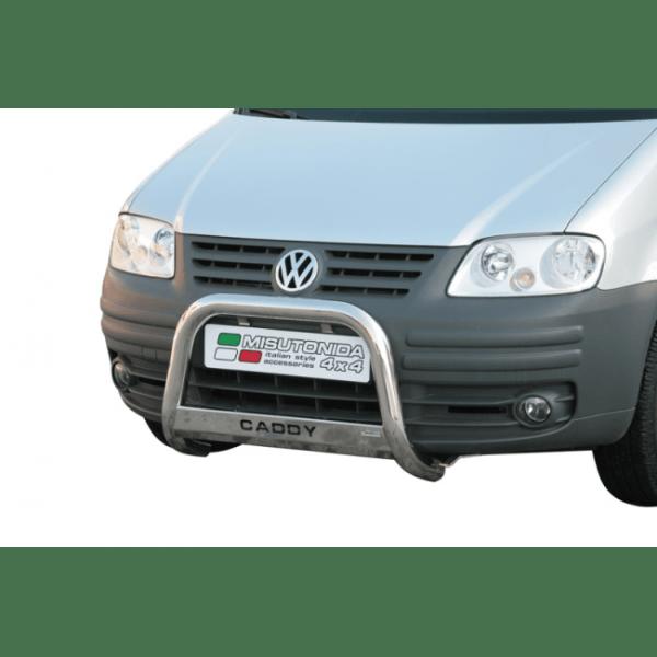 Misutonida Bull Bar Ø63mm inox srebrni za Volkswagen Caddy 2004-2011 s EU certifikatom