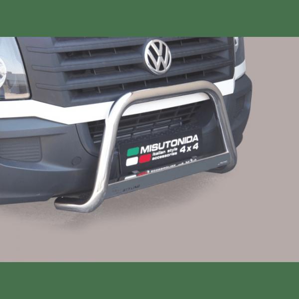Misutonida Bull Bar Ø63mm inox srebrni za Volkswagen Crafter 2011-2016 s EU certifikatom