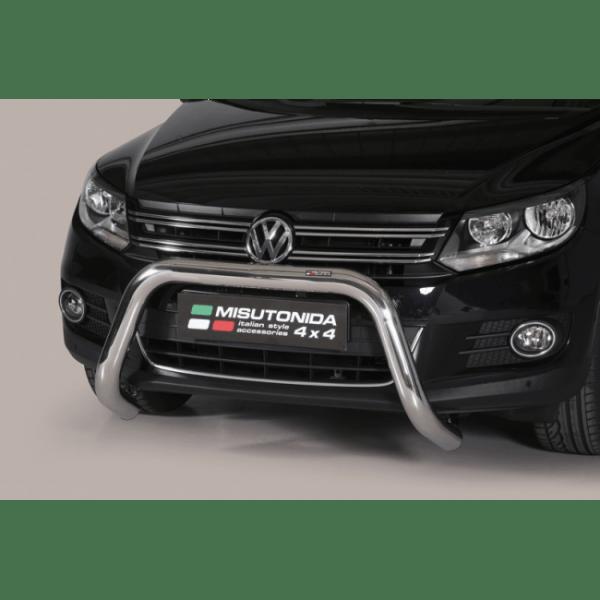 Misutonida Bull Bar Ø76mm inox srebrni za Volkswagen Tiguan 2011-2015 s EU certifikatom