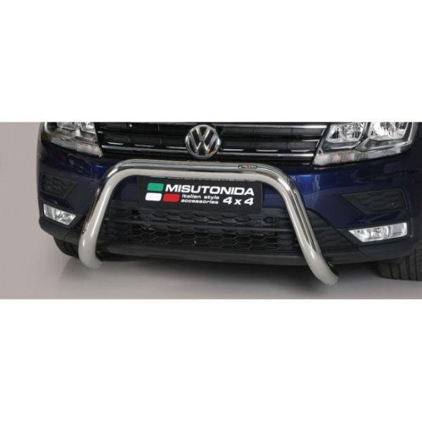 Misutonida Bull Bar Ø76mm inox srebrni za Volkswagen Tiguan 2016 s EU certifikatom
