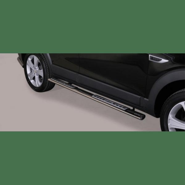 Misutonida bočne stepenice inox srebrne za Chevrolet Captiva 2011-2013 s TÜV certifikatom