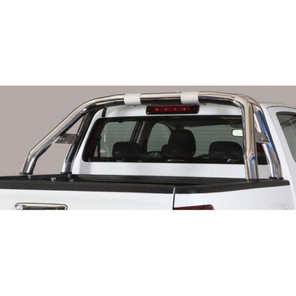 Misutonida Roll Bar Ø76mm inox srebrni za pickup Isuzu D-Max 2017-2019 double cab s TÜV certifikatom