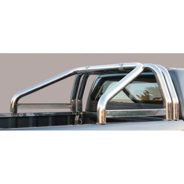 Misutonida Roll Bar Ø76mm inox srebrni za pickup Isuzu D-Max 2012-2016 i 2017-2019 double cab i space cab 2012+ s TÜV certifikatom