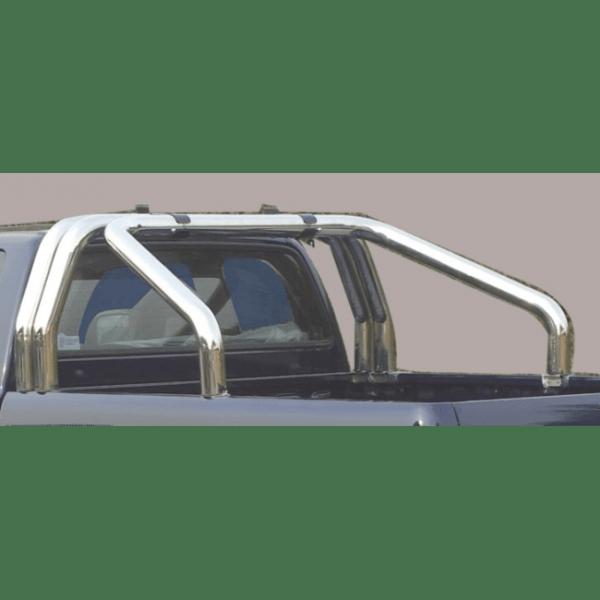 Misutonida Roll Bar Ø76mm inox srebrni za pickup Mazda BT 50 2009-2012 double cab s TÜV certifikatom