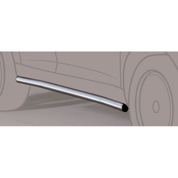 Misutonida bočne stepenice inox srebrne za Citroën Jumper LWB 2006-2015 s TÜV certifikatom