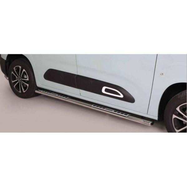 Misutonida bočne stepenice inox srebrne za Citroën Berlingo MWB 2018 s TÜV certifikatom