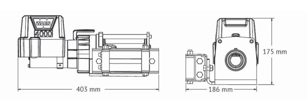 Vitlo Warn 4000 DC, 12V, 1.814kg sa sajlom, vodilicom i žičnim daljinskim