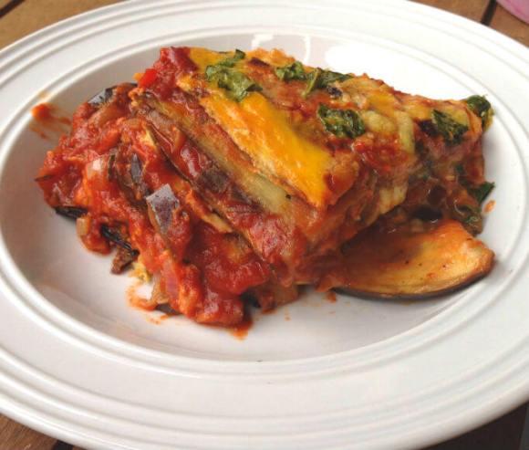 Biolicious low carb aubergine lasagne