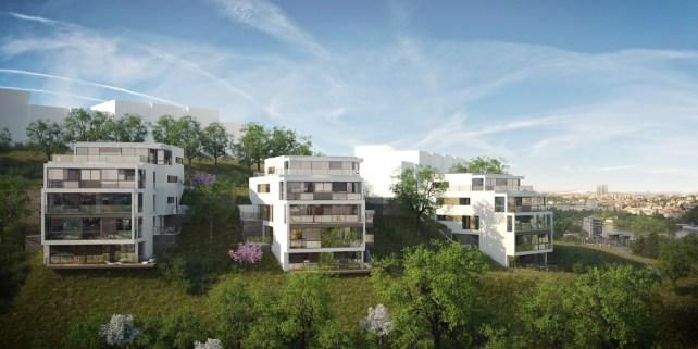 Apartment house Praha Zlichov / / Architect: Atelier ABV / / Client: CTR group, s.r.o. - Luxusní byty Praha 5