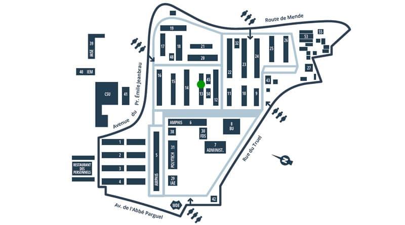 plan d'accès département biologie écologie
