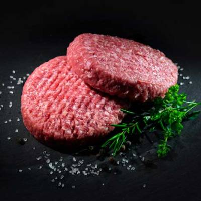 stuks biologische biefstuk tartaar van grasgevoerde runderen