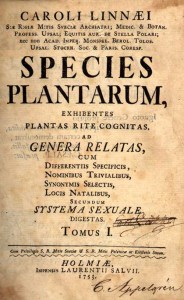 Species Plantarum.