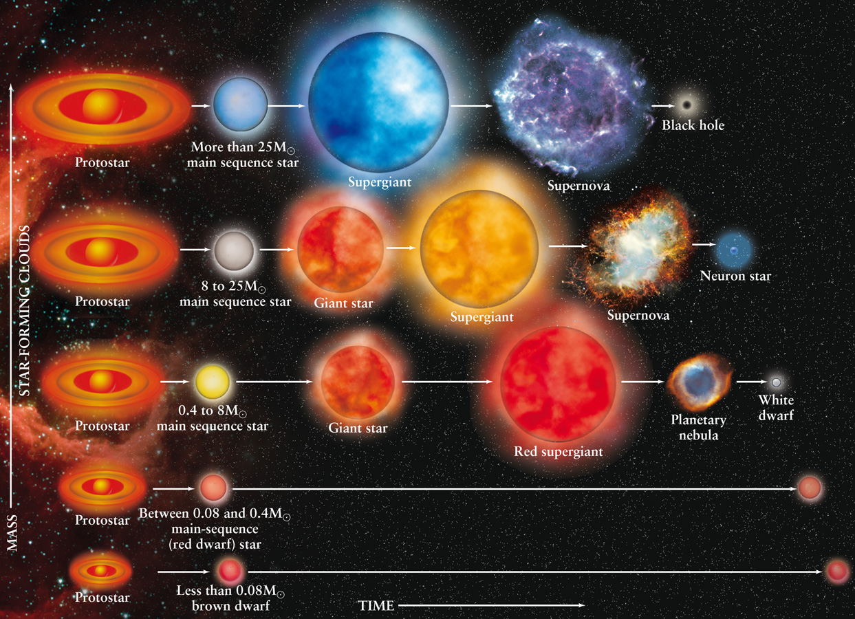 A Summary Of Stellar Evolution