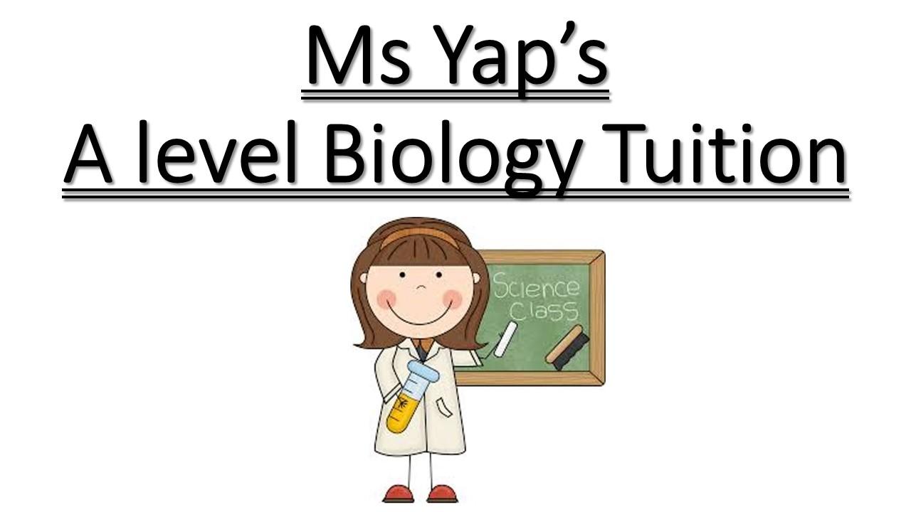 Ms Yap: A-Level JC H2 Biology Tuition -JC A 水准生物学补习