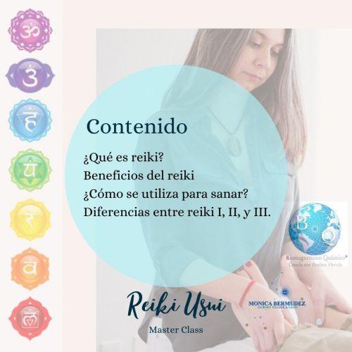 Masterclass Reiki Usui - Contenido