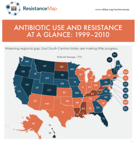 State Antibiotic use and resistance_East South Central States are making little progress