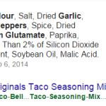 Taco Bell Seasoning Ingredients