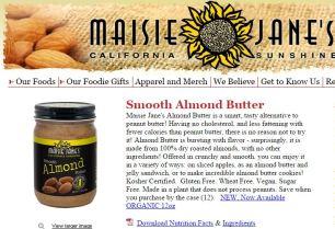 Maisie Jane's Almond Butter