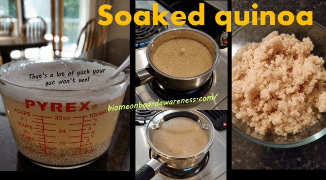 How & Why Properly prepare SOAK Quinoa