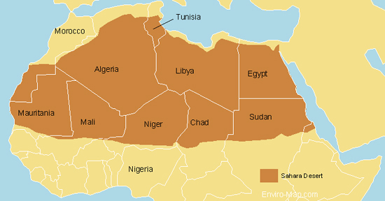 Sahara Desert World Map Mali