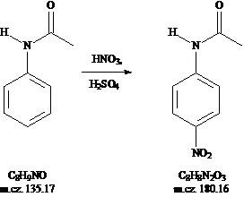 p-nitroacetanilid 1